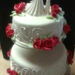 3 emeletes esküvői torta 2