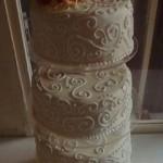 4 emeletes esküvői torta