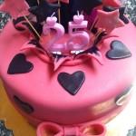 Rózsaszín torta