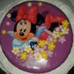 Mini egér ostyalapos torta
