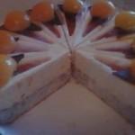 sárgabarackos köles torta