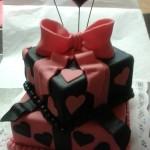 szívecskés emeletes torta